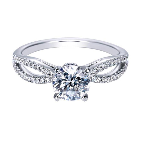 Round Contemporary Custom Engagement Rings