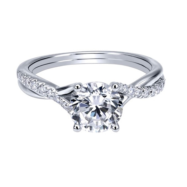 Round Contemporary White Gold Diamond Engagement Rings Toronto