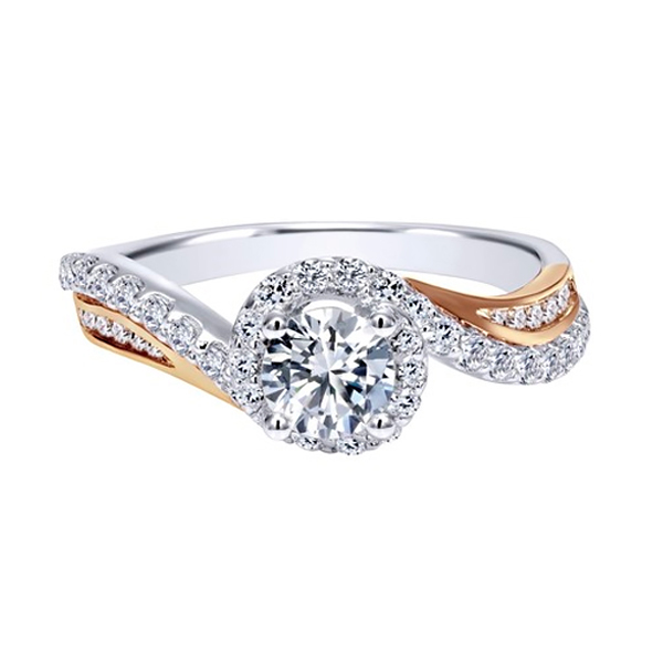White and Rose Gold Diamond Engagement Rings Toronto